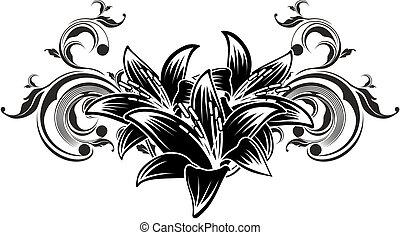 ornamental flowers design