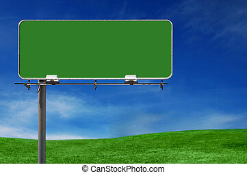 Outdoor Advertising Billboard Freeway Sign in Natural Setting