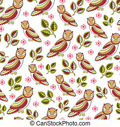 Owl Endless Seamless Pattern