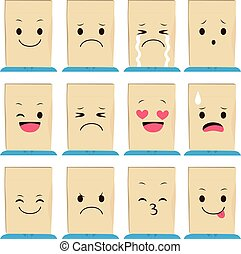 Paper Bag Face Expressions