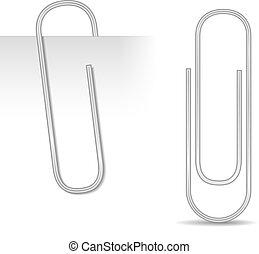 Metallic paper clip, vector eps10 illustration