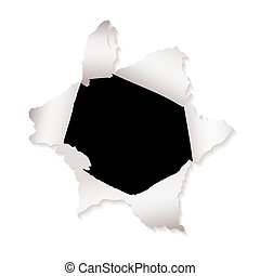 paper hole explode