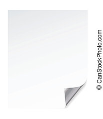 paper page corner curl effects, vector