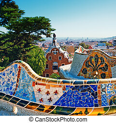 Park Guell was commissioned by Eusebi Güell and designed by Antonio Gaudí .