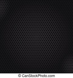 Dark texture background of perforated metal