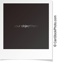 photo polaroid frame for your object