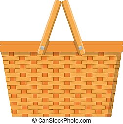 picnic basket isolated icon
