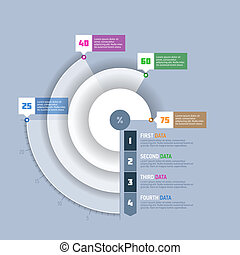 Pie chart, circle graph infographi