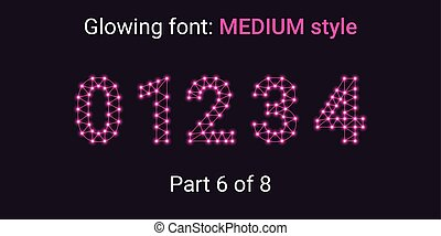 Pink Glowing font in the Outline style