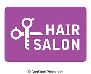 hair salon icon with scissors