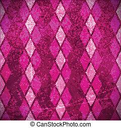 Pink purple rhombus grunge background