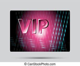 Pink vip card