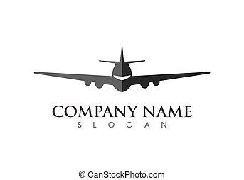 plane ilustration logo vector icon template