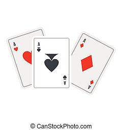 Playing cards icon, flat style