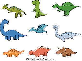 Prehistoric animal doodle cartoon