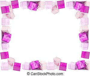 Present boxes frame or border