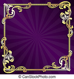 stylish vector frame with metallic swirls. Graphics are grouped and in several layers for easy editing. The file can be scaled to any size.