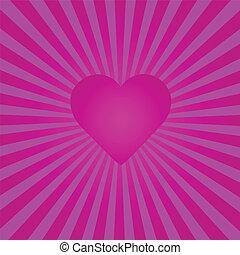 Purple Heart Sunburst