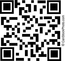 Vector illustration qr code sample. Bar code. Qr code icon