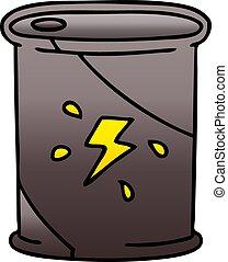 quirky gradient shaded cartoon barrel of fuel