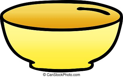 quirky gradient shaded cartoon bowl