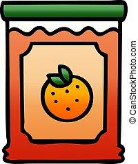 quirky gradient shaded cartoon jar of marmalade