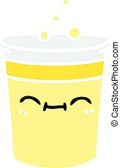 quirky hand drawn cartoon cup of lemonade
