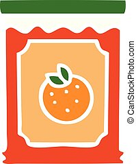 quirky hand drawn cartoon jar of marmalade