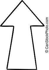 quirky line drawing cartoon arrow