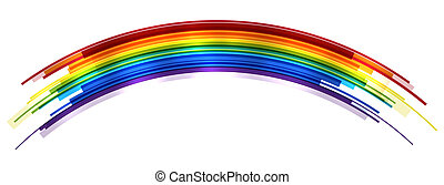 Abstract bright rainbow icolated on white. EPS10 vector