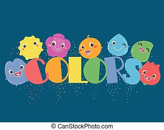 Rainbow Color Characters Illustration
