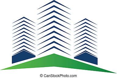 Real estate buildings logo