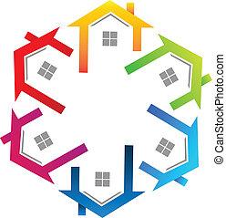 Real estate colorful logo
