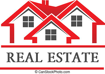 Real estate house company logo