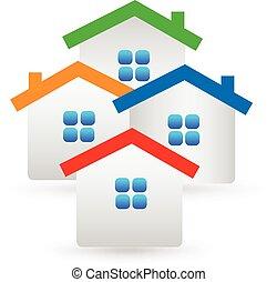 Real estate houses logo