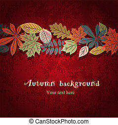 Red autumn vector background