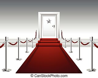Red Carpet Leading to the Door