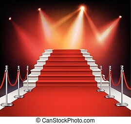 Red Carpet With Stairs