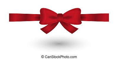 red elegant bow