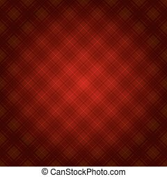 Red Fabric Tartan Background. Vector