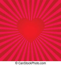 Red Heart Sunburst
