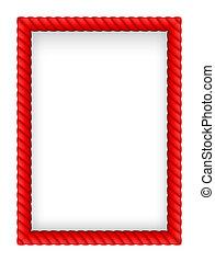 Red Rope Border. Illustration on white background