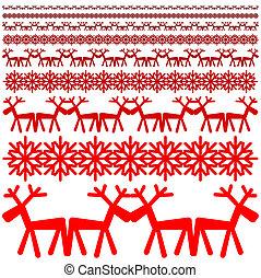 Xmas winter pattern