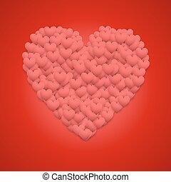 Red Valentines day background