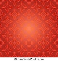 red vintage pattern - vector background