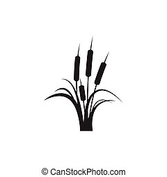 Reeds icon vector design template