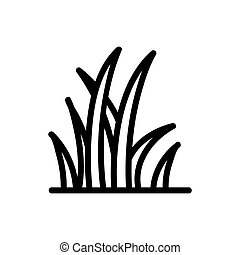 reeds icon vector outline illustration