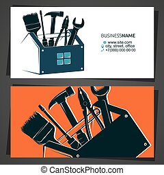 Renovation and construction business card