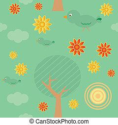 Retro Background Seamless Tiles