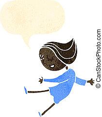 retro cartoon dancing girl